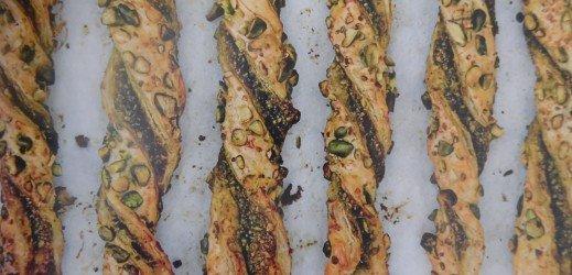 Torsades au pesto de pistaches